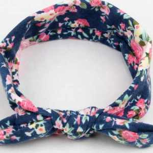 top knot headband navy floral