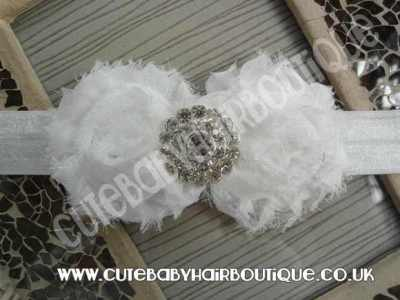white flower headband for girls