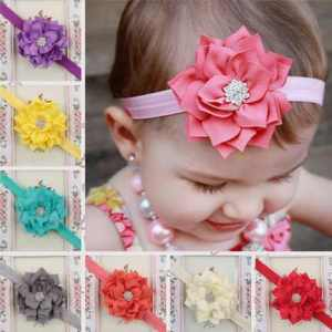 Winter flower headband for girls