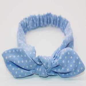 blue top knot headband