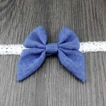 Denim Light Blue Bow