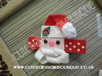 Christmas Santa Hair Clips
