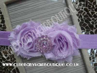 lilac vintage flower headband for girls