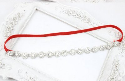 red Bling baby headbands with crystals
