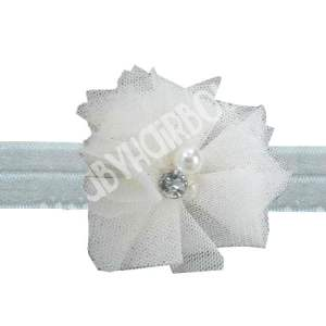 White Tulle Headband For Babies