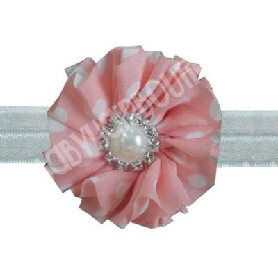 Peach toddler headband