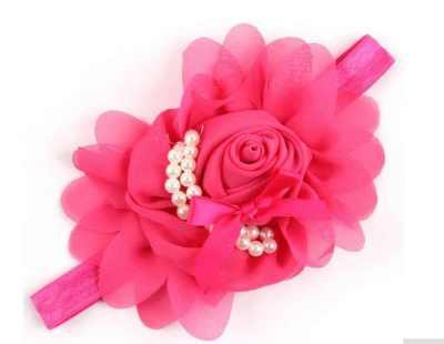 Big Ruffle Babies Headband dark pink hot Pink