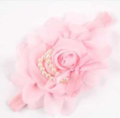Big Ruffle Babies HeadbandLight Pink