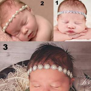 Princess Sparkles Newborn Headbands