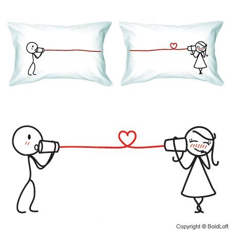 14 Cute Fun And Romantic Pillowcases For Couples