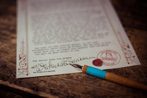 Ein persönlicher Brief vom Weihanchtsmann