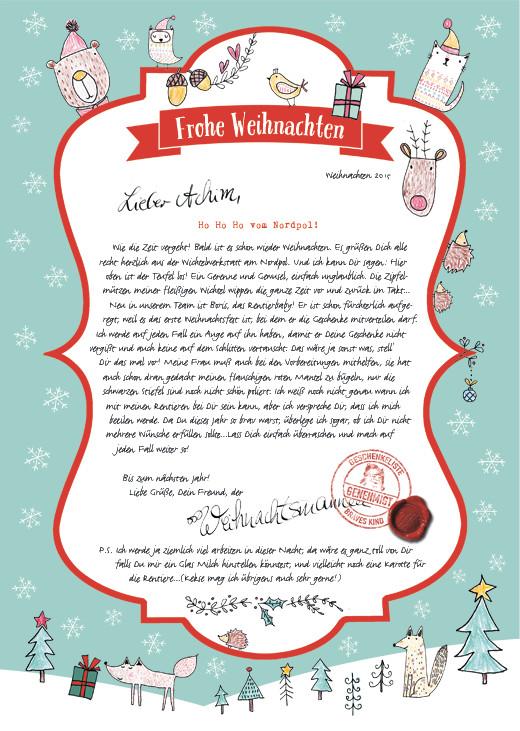 So sieht der Brief aus, den Achim von mir bekommt. Für deinen kannst du den/die Namen selbst bestimmen.