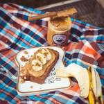 Peanutbutter Apfelstreusel Brot
