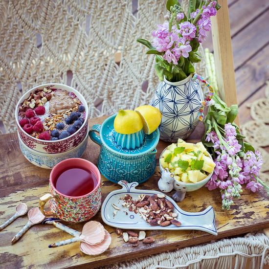Mein Acai Bowl Frühstück mit Mandelmasse