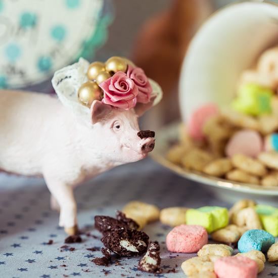 Das Schwein hat natürlich wieder direkt was 'schnabuliert'