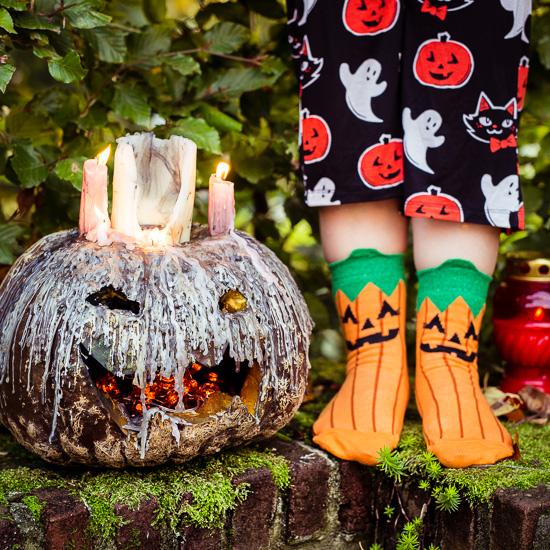 """Den Halloween Kürbis habe ich ganz schön """"spooky"""" hinbekommen"""