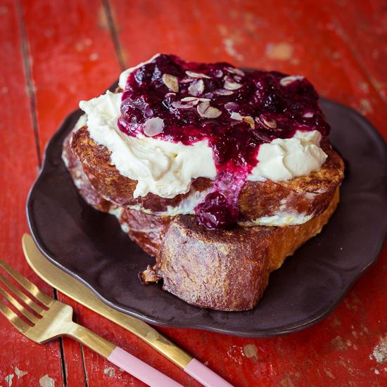 """Die Ricottacreme für den French Toast ist etwas """"leichter"""" als Clotted Creme :-)"""