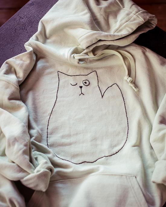 """Mein Lieblingssweaty habe ich jetzt als Katzenhoody """"upcyclet"""""""