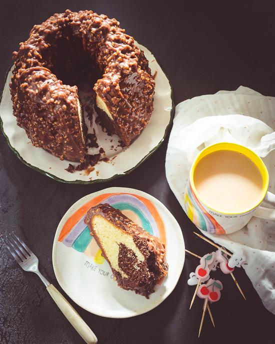 Mein Marmorkuchen mit ganz spezieller Schoko Glasur