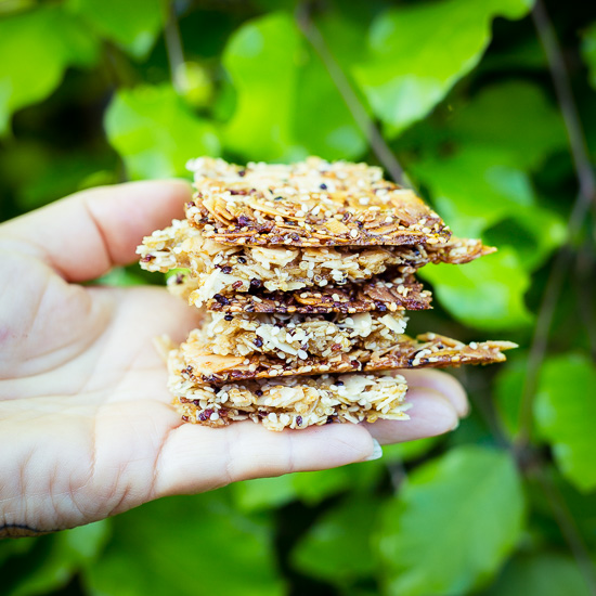 Die Hauptzutat bei den Schnitten ist gekochtes Quinoa