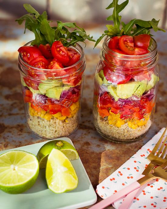 Heute gibt es bei uns auf jeden Fall Salat im Glas