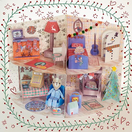Auf dem Bild siehst Du das komplette Weihnachtshaus von Boris von vorne