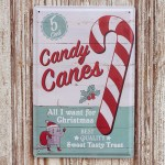 Candy Canes Metallschild
