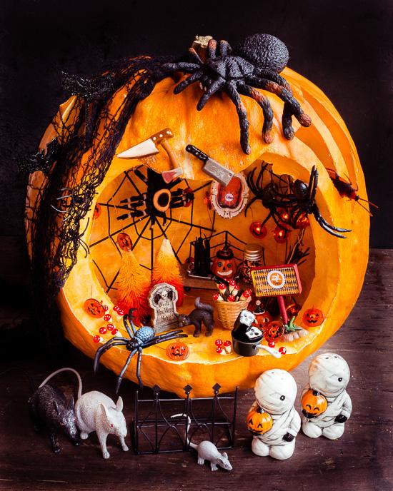Mein fertiger Halloween Kürbis