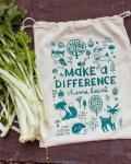 Neuer Obst- und Gemüsebeutel mit herbstlichen Waldttieren