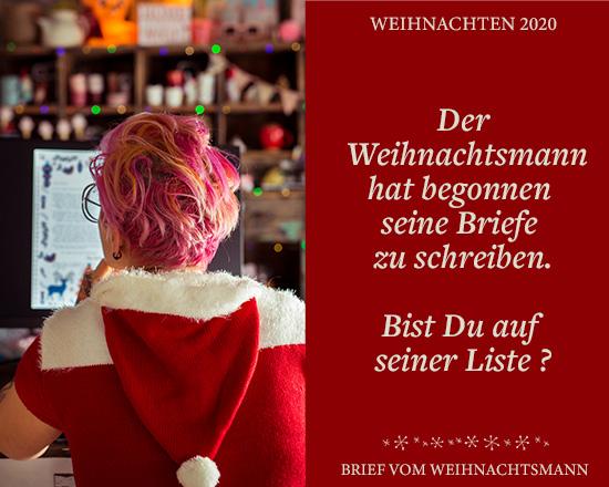 Auch dieses Jahr kannst Du wieder einen Brief vom Weihnachtsmann bestellen