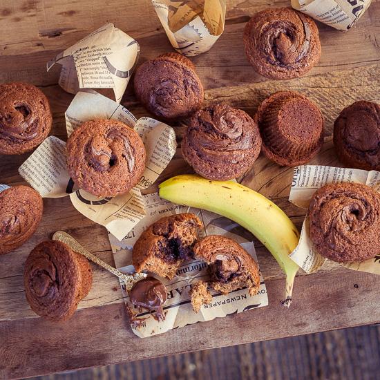 Für die Bananenmuffins brauchst du keine Küchenmaschine