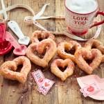 Vanillechurros Herzen zum Vallentinstag