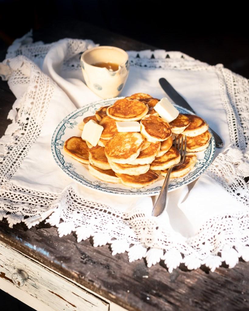 Ricotta Mini Pancakes aus Backen Craft und Rote Katze