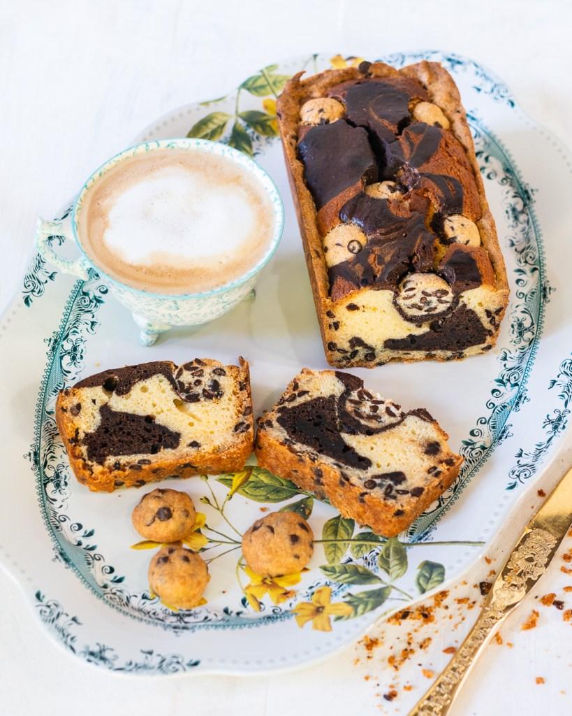 Marmor Kuchen mit Chocolate Chip Kruste