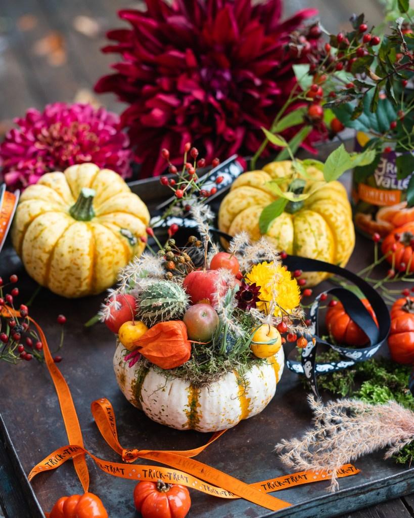 Herbstliche Kürbisdekoration