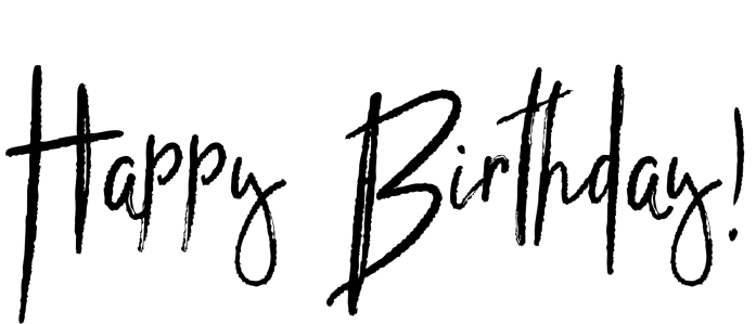 Happy Birthday Typography Png ~ Birthday word art cutecrafting
