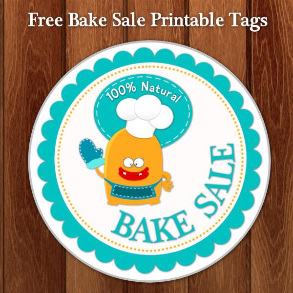 Kids Bake Sale Printable Tags
