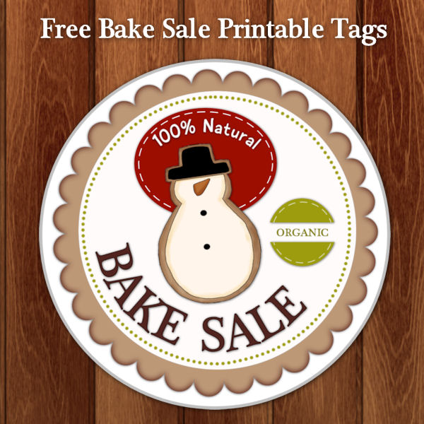 Holiday Bake Sale Tags