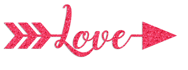 love arrow glitter clipart