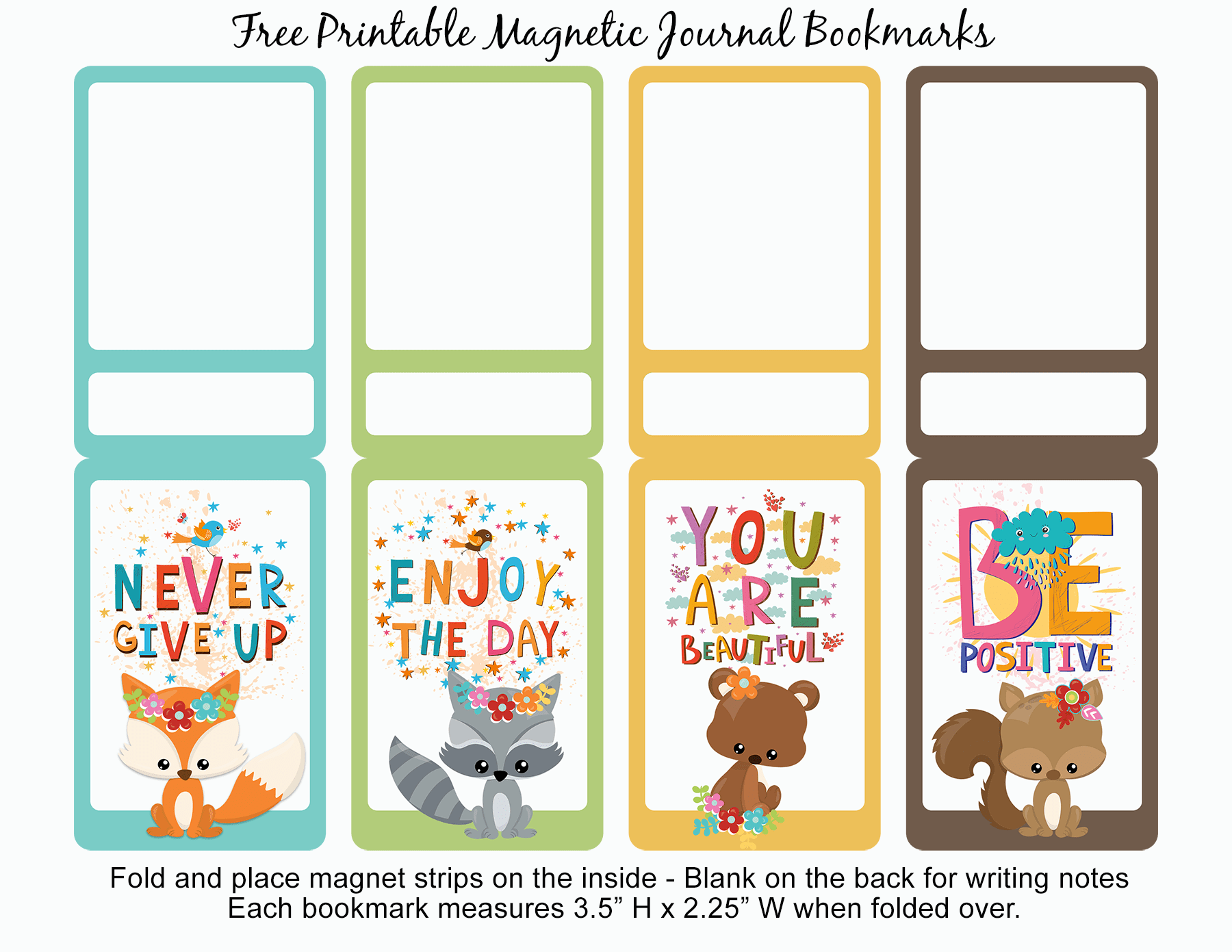 photo relating to Printable Magnet identified as Free of charge Printable Magnetic Magazine Bookmarks Inspirational Estimates