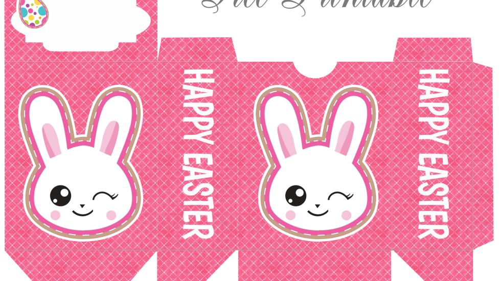 emoji bunny easter box printable
