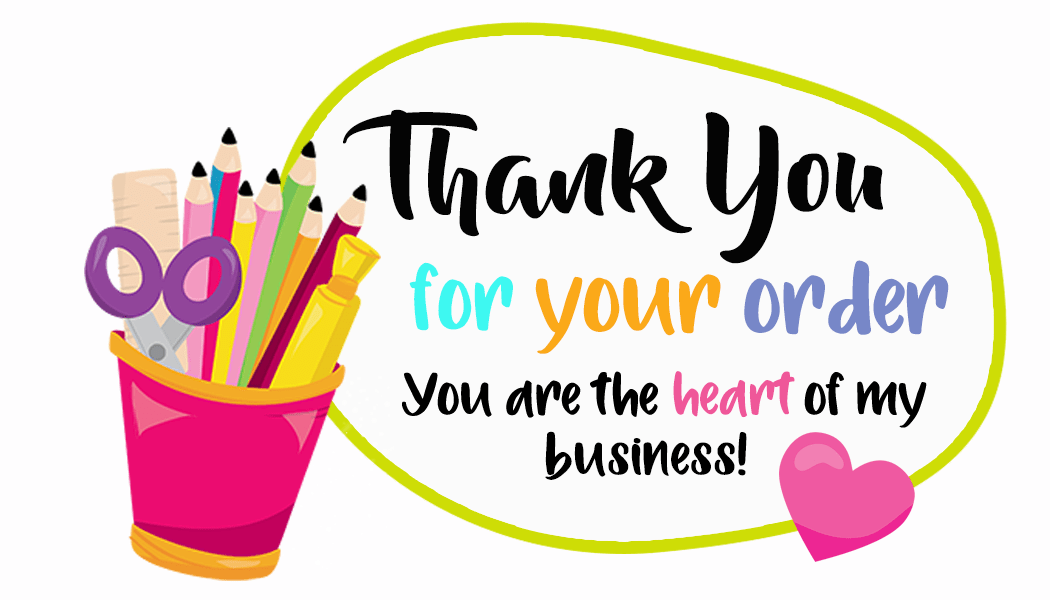 Thank You For Your Order Crafts