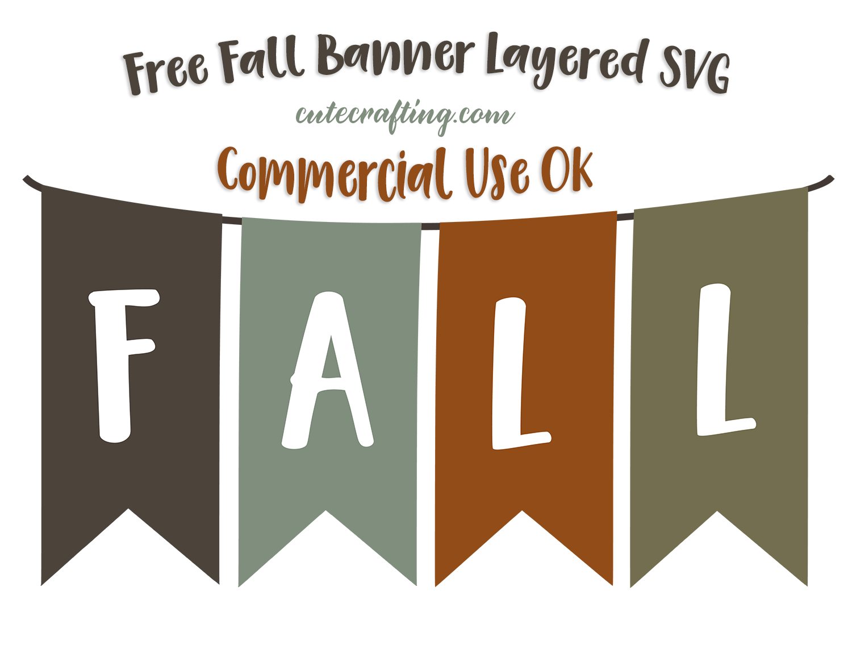 Layered SVG Fall Banner