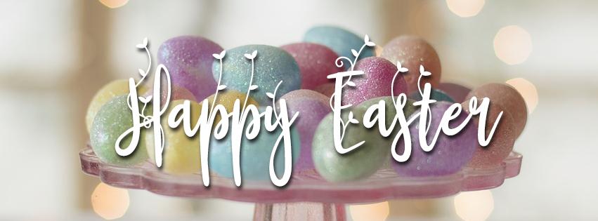 Pastel Glitter Easter Eggs