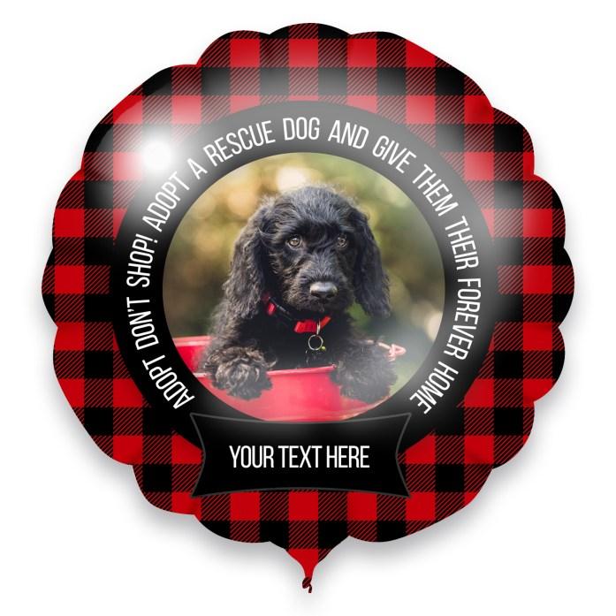 fundraiser donations adopt a dog photo balloon