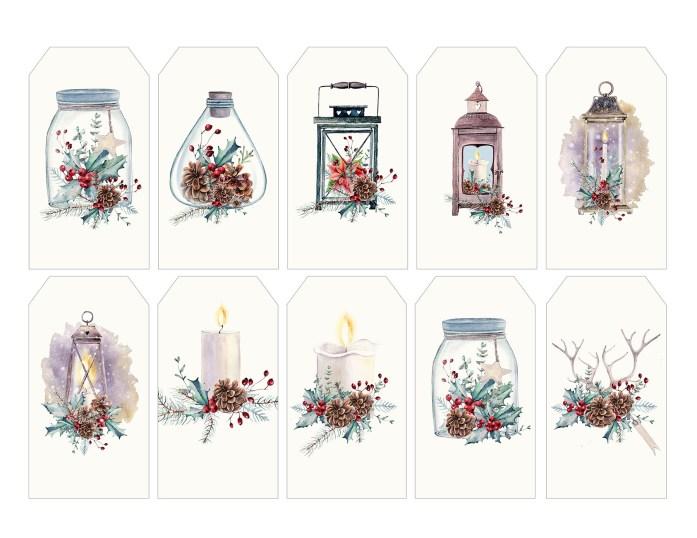 preview christmas arrangement tags