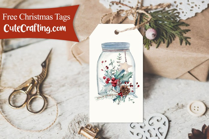 free christmas arrangement tags