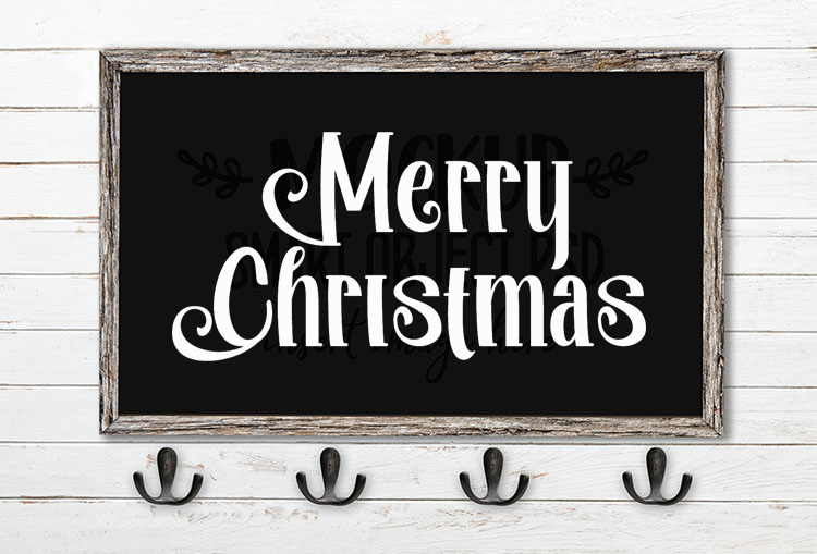 merry christmas svg word art afatar