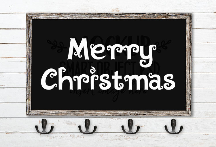 merry christmas svg word art algae