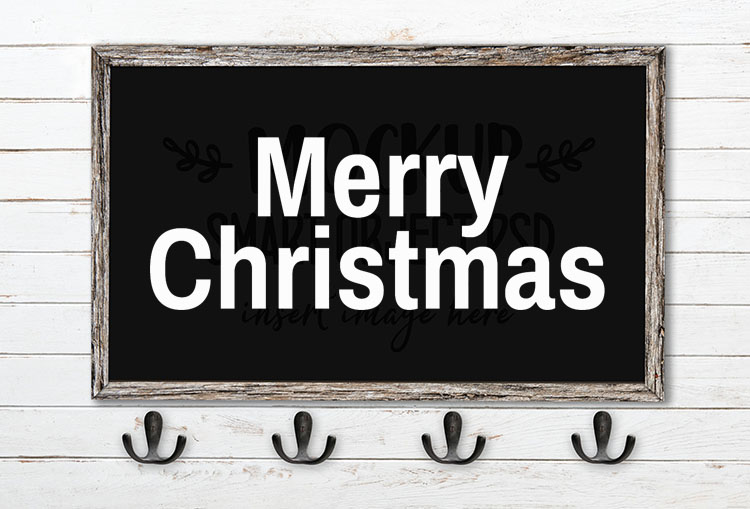merry christmas svg word art archivo